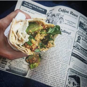 sriracha falafel pita