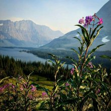 Hidden Lke and Bearhat mountain, Glacier National park