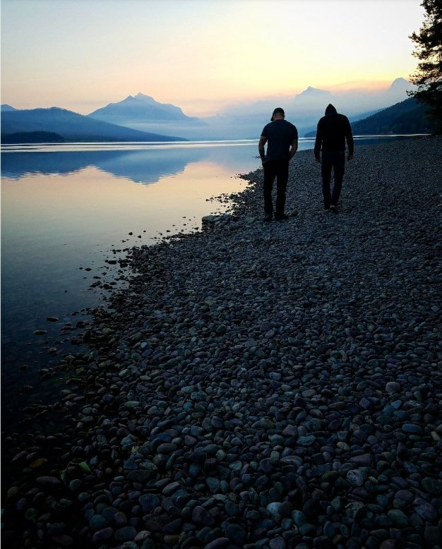 Sunrise over Lake McDonald
