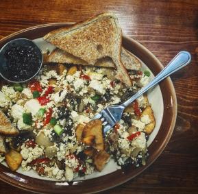 Tofu scamble breakfast