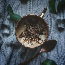 Warm gingerbread smoothie