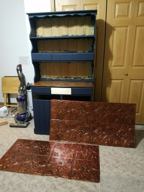 Copper ceiling tiles