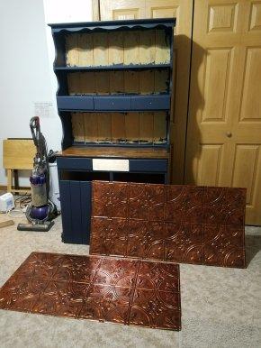 Copper ceiling tiles