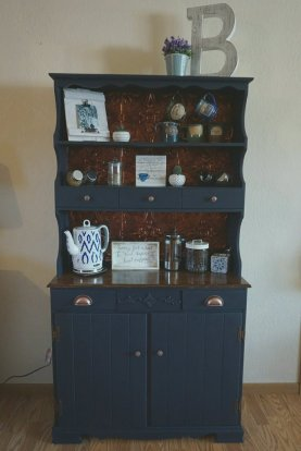 Completed repurposed hutch