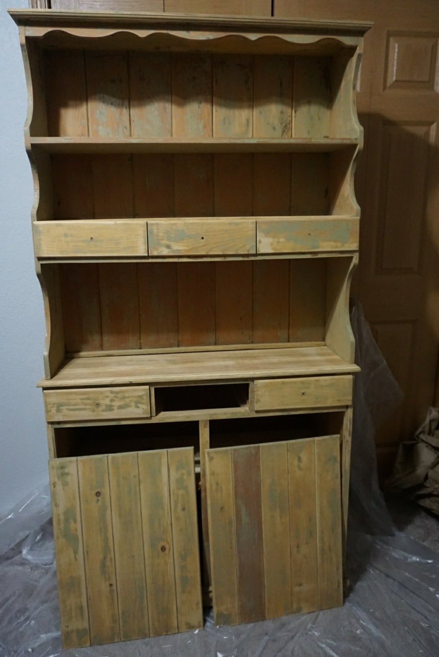Hutch after it's been stripped